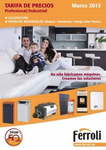 Nueva caldera de condensación entre las novedades de la reciente tarifa de calefacción y energías renovables de Ferroli