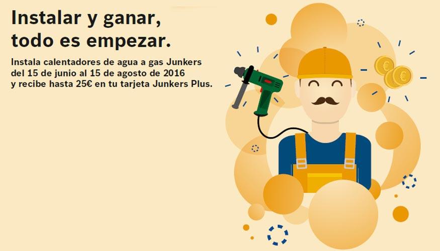 Junkers premia la fidelidad de los instaladores for Instaladores de calderas de gas